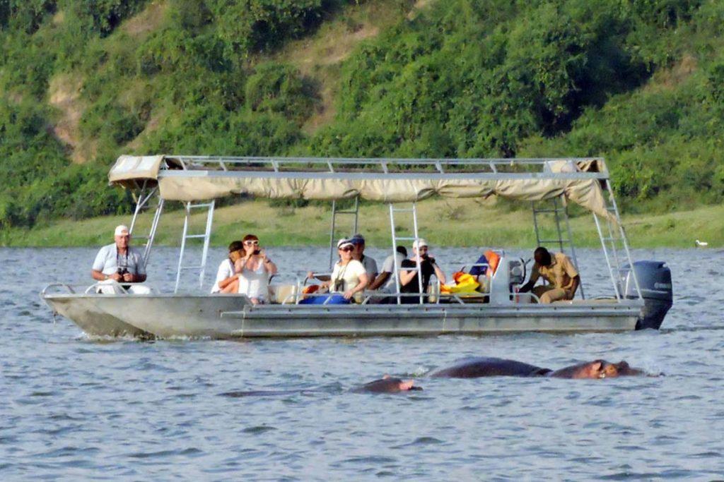 Kazinga channel boat launch